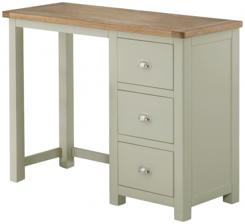 Brompton Stone Single Pedestal Dressing Table