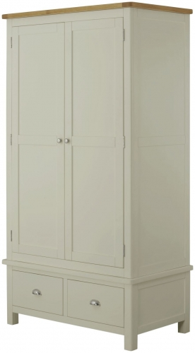Brompton Stone 2 Door 2 Drawer Wardrobe