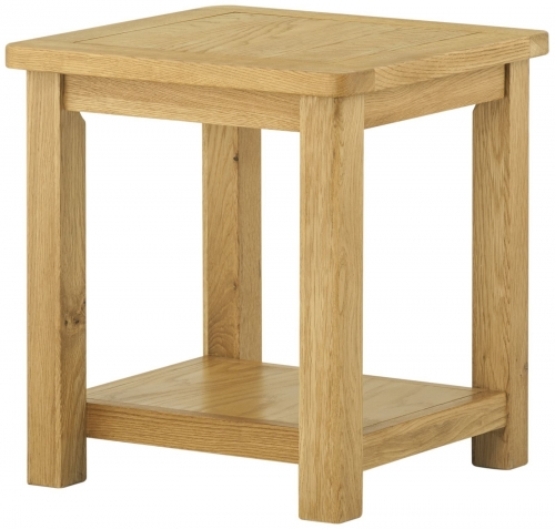Brompton Oak Lamp Table