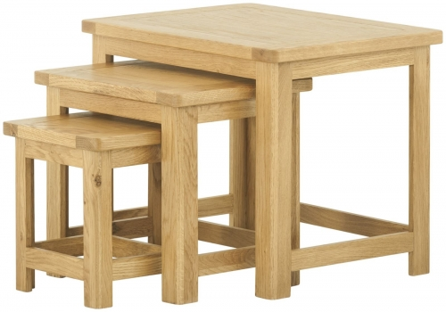 Brompton Oak Nest Of Tables