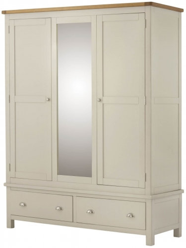 Brompton Cream Triple Wardrobe