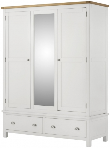 Brompton White Triple Wardrobe