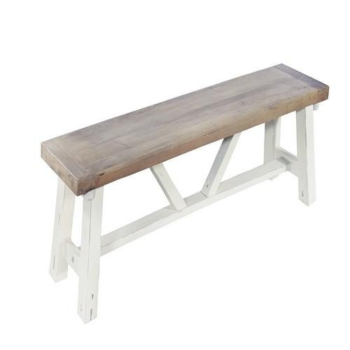 Whitley Distressed Timber Small Bench