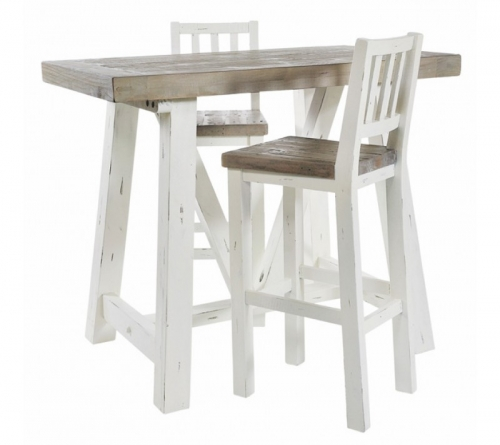 Whitley Distressed Timber Bar Stool
