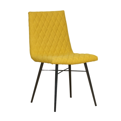 Holbeck Quilted Fabric Dining Chair