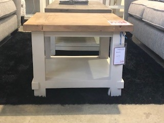 Rosedale White Painted Lamp Table