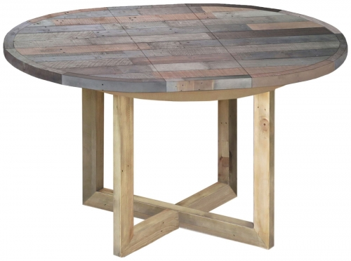 Old Mill Reclaimed Round Extending Dining Table