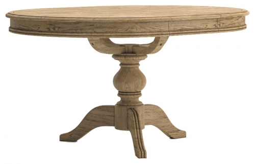 Biarritz French Oak Round Extending Table