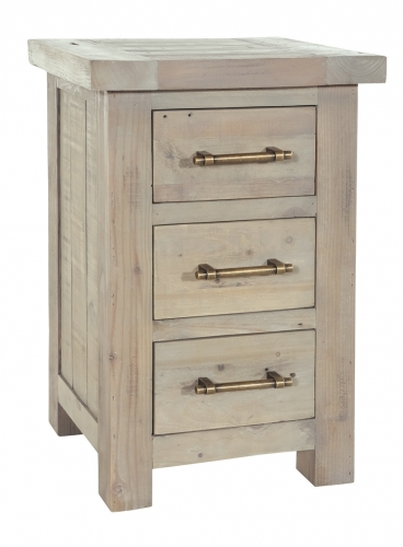 Bilsdale Driftwood 3 Drawer Storage Chest