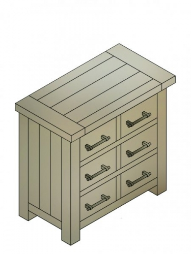 Bilsdale Driftwood 6 Drawer Storage Chest