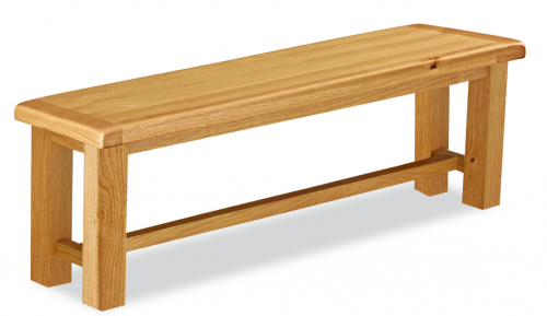 Country Rustic Waxed Oak Large Bench