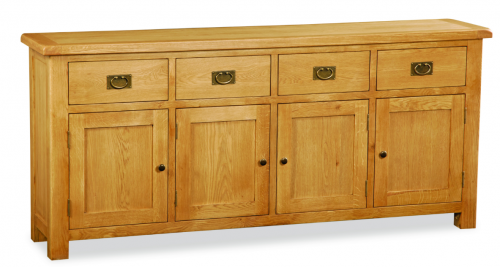 Country Rustic Waxed Oak Extra Large Sideboard