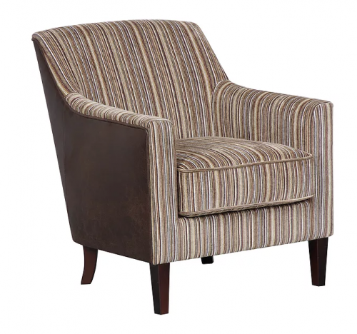 Bloomsbury Brown Stripe Fabric Accent Chair