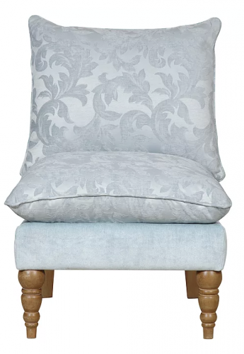 Clarence Duck Egg Floral Accent Chair