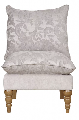 Clarence Silver Floral Accent Chair