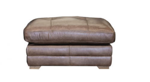 Hardy Leather Footstool