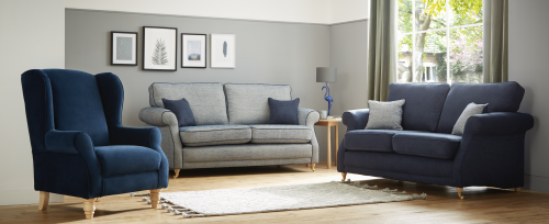 Ellerby 3 Seater Fabric Sofa