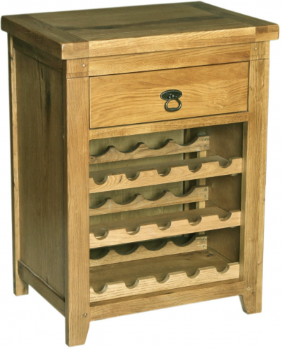 Chambrey Rustic Oak Wine Rack