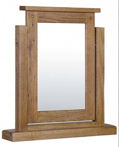 Riga Rustic Oak Dressing Table Mirror