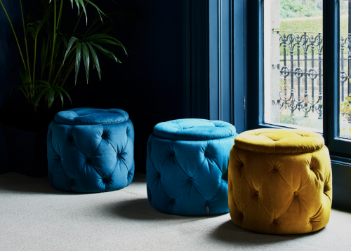 Lucy Footstool - Various Plain Colours