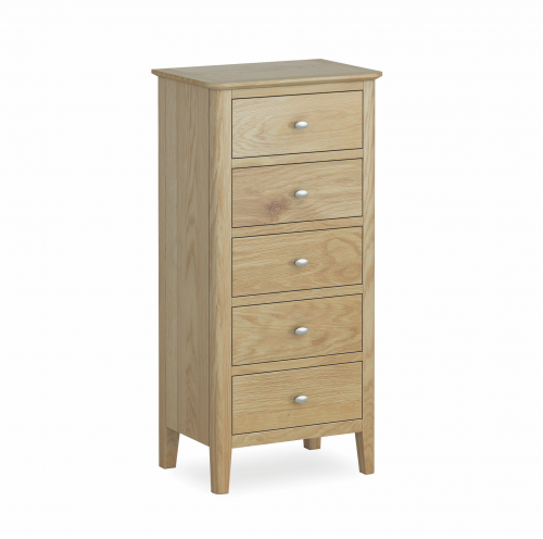 Harome Light Oak 5 Drawer Chest