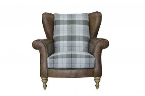 Lawrence Leather & Fabric - Wing Chair