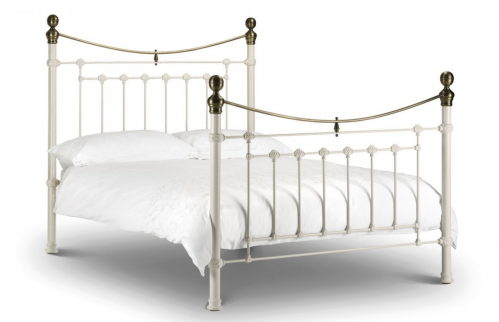 Victoria Stone White Bed Single