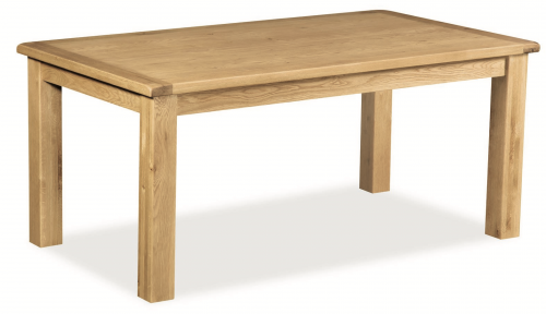 Country Rustic Waxed Oak 1.2 Fixed Top Dining Table