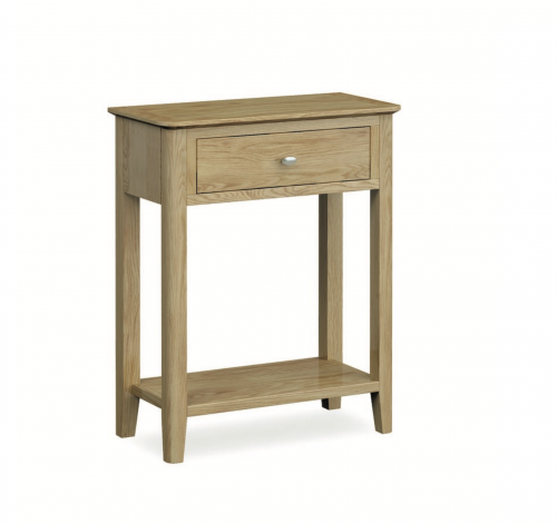 Harome Light Oak 1 Drawer Console Table