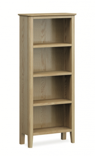 Harome Light Oak Slim Bookcase