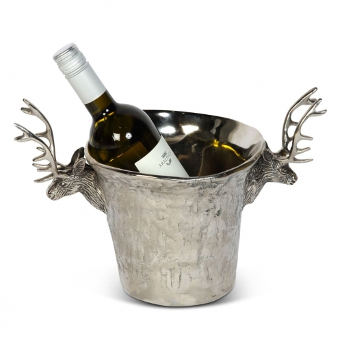 Stag Wine Cooler with Textured Bark Finish