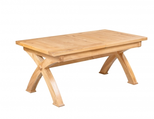 Hebden Solid Oak Small Extending X Leg Table
