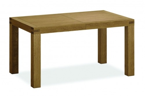 Sutton Rustic Waxed Oak Small Extending Dining Table