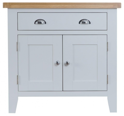 Thornton Painted Grey with Oak Top Small Sideboard
