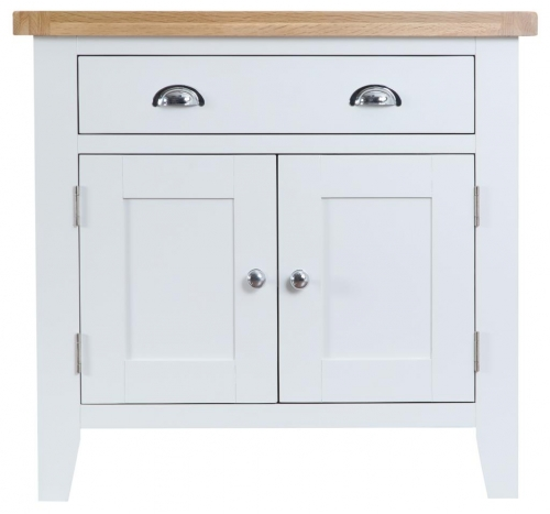 Thornton Painted White with Oak Top Small Sideboard