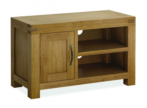 Sutton Rustic Waxed Oak Small Tv Stand