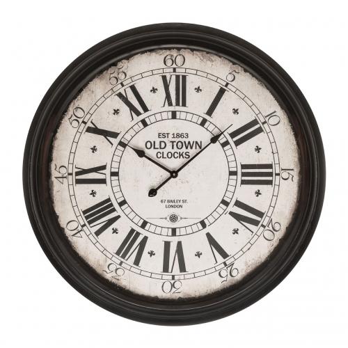 Black Classic Old Town Wall Clock
