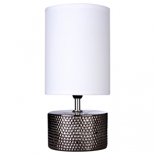 Winter Black & Chrome Ceramic Table Lamp
