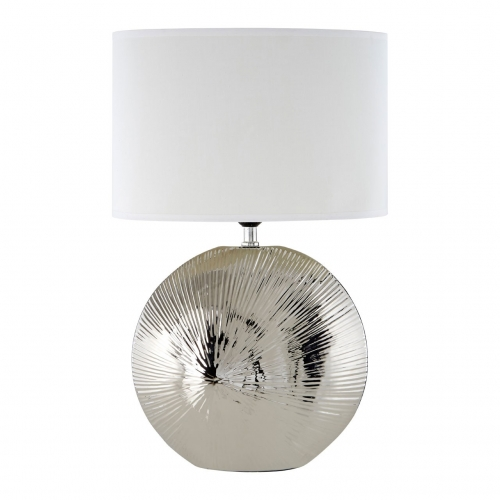 Hattie Silver Rib Shell Ceramic Table Lamp