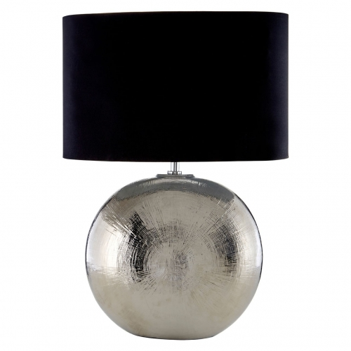 Jarvis Scratched Silver Ceramic Table Lamp