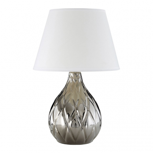 Hannah Silver Ceramic Table Lamp