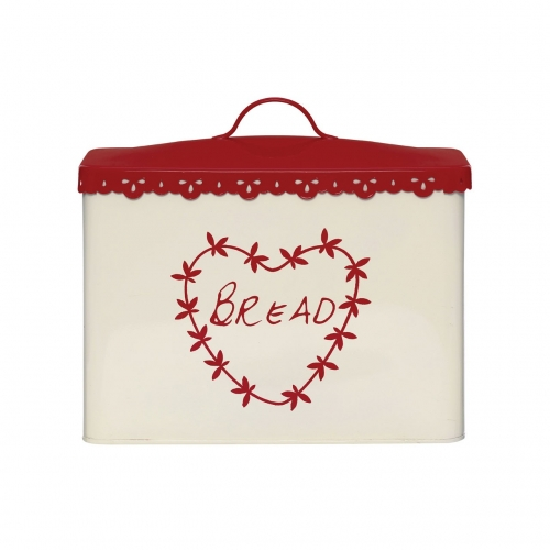 Anglaise Red & Cream Bread Bin