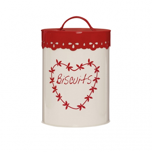 Anglaise Red & Cream Biscuit Tin