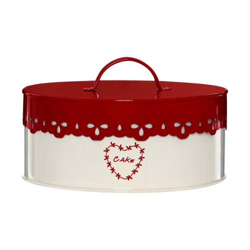 Anglaise Red & Cream Round Cake Tin