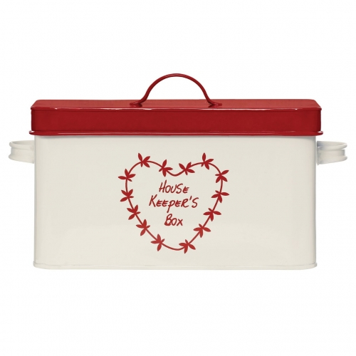 Anglaise Red & Cream Housekeepers Box