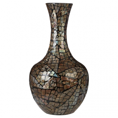 Complements Bottle Vase Crackle Mosaic