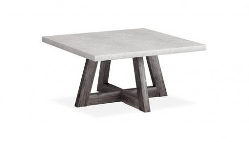 Boulder Contemporary Square Coffee Table
