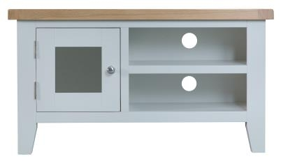Thornton Painted Oak White Standard TV Unit