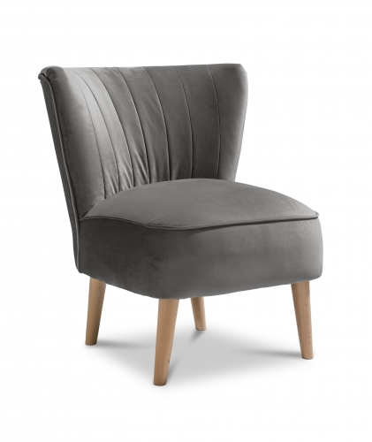 Paris Accent Chair - Plush Steel