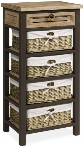 Viga Tall Chest with Baskets